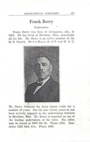 History   Berry & Gardner Funeral Homes - Meridian, MS