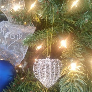 The heart ornament from our Holiday Memorial in 2017.