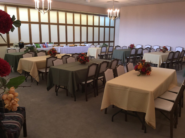 Chapel converted in catering room