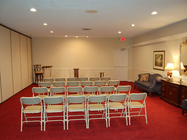 Legacy Room. Used for small intimate family gatherings or services.  Can be arranged to suit the families needs and wishes.