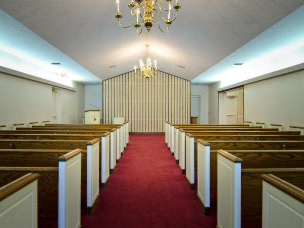 Our spacious chapel with Full Audio and Video systems.