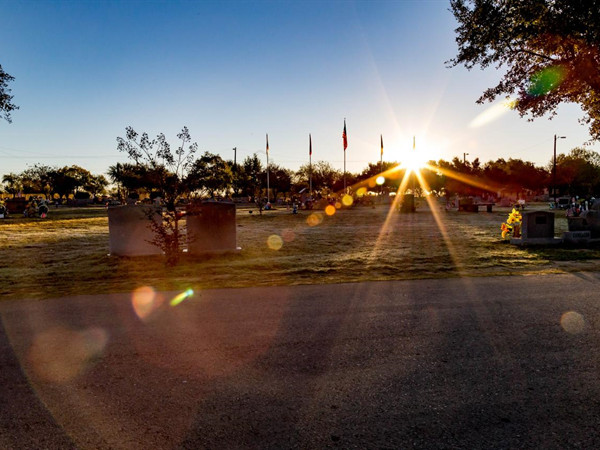 Sunrise over our Veteran's Section