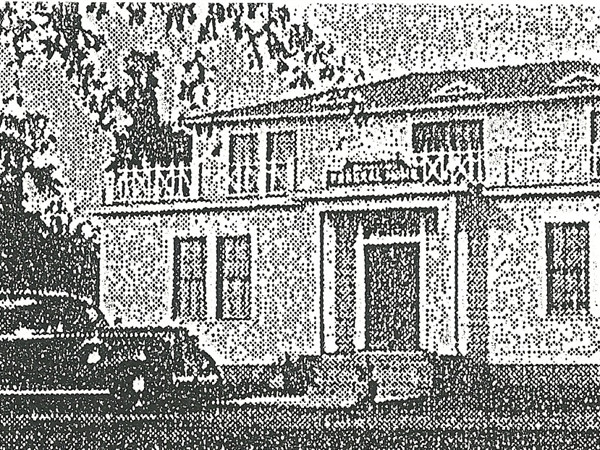 Original Adams Funeral Home at Rose Road and West Main Street from the 1930's to 1959.
