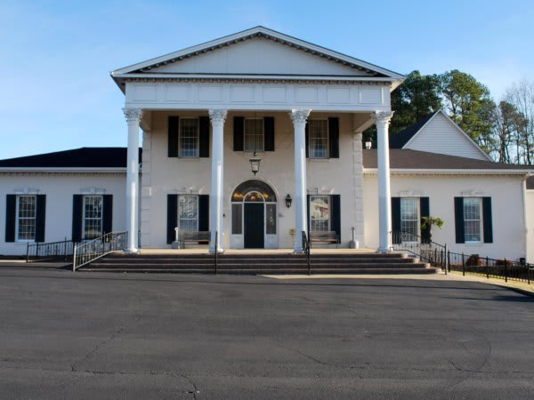 Current front of Adams Brown Service Funeral Home.