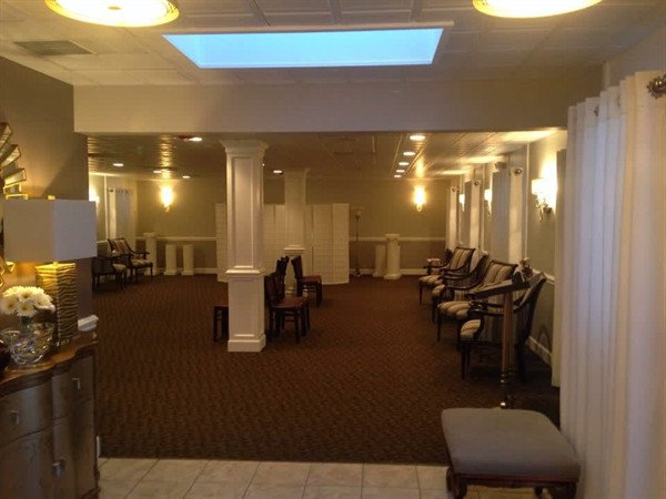 One of two large 1200 square foot visitation rooms