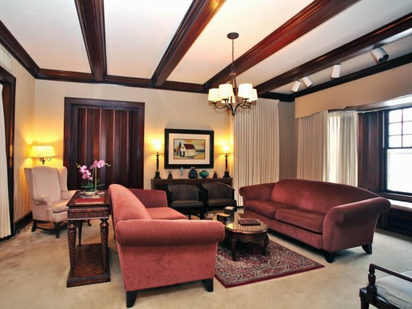 Living Room- a seating area used for quiet contemplation, private family good-byes or when combined with the adjacent meeting room, small public gatherings.