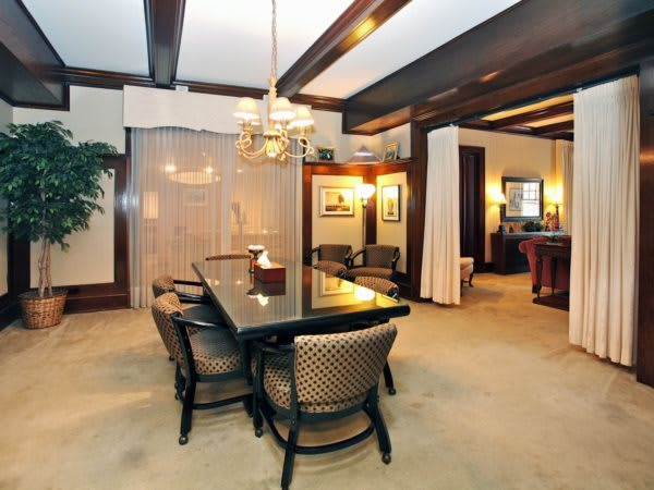Meeting Room- a space designed for families to plan services and ceremonies.