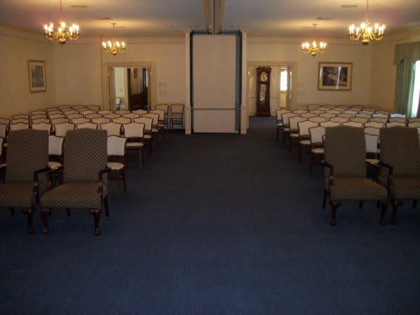 Our 150 seat chapel provides a spacious place for a viewing or service, but also can be divided in half to accommodate more than one service at a time.