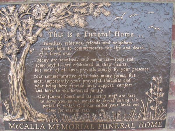 Bronze Dedication Plaque