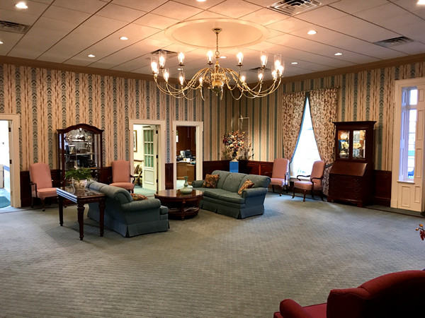 A large chapel accommodates families of all sizes. Furthermore, the chapels flow into the lobby, enabling our funeral home to serve groups small and large.