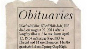 Obituary Outline