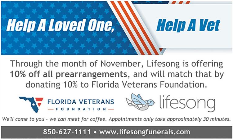 Honoring Veterans | Lifesong Funerals & Cremations - Quincy, FL