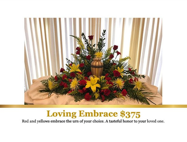 Roses, Fuji Mums, Snap Dragons, Daisies Sympathy Flowers, Funeral Flowers, Cremation Flowers in Mentor, Willoughby, Painesville, Eastlake, OH Ohio