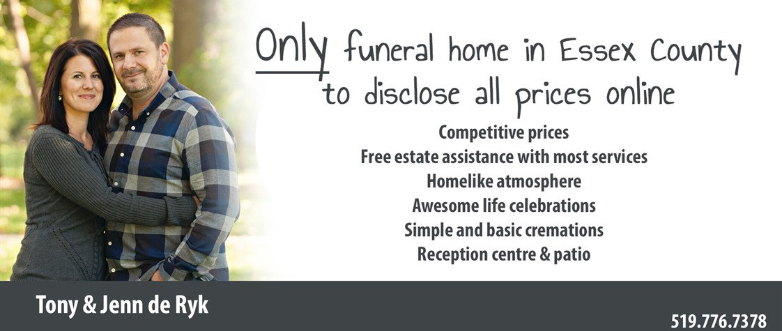 Kennedy Funeral Home in Essex Ontario is a funeral home dedicated to providing great care. Our funeral home in Essex Ontario is definitely special.