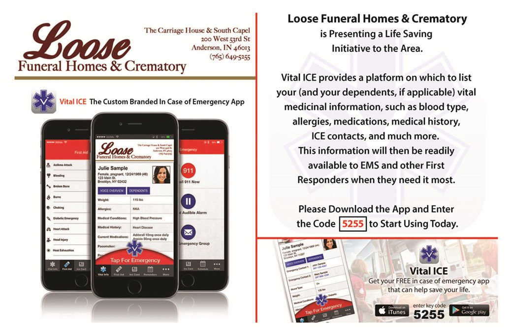 Vital Ice App by Loose Funeral Homes & Crematory