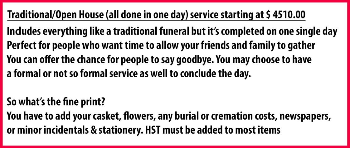 Funeral Price Essex Kingsville Leamington Ontario