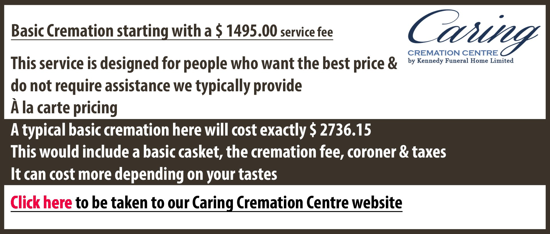 A funeral home in Windsor Essex Leamington Kingsville that provides basic cremaiton