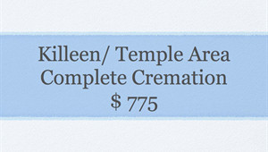 Basic Cremation Service- Killeen/Temple Area