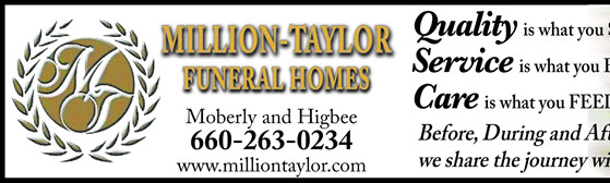 What We Do | Million Taylor Funeral Homes 320 S. Williams St. Moberly, MO 65270