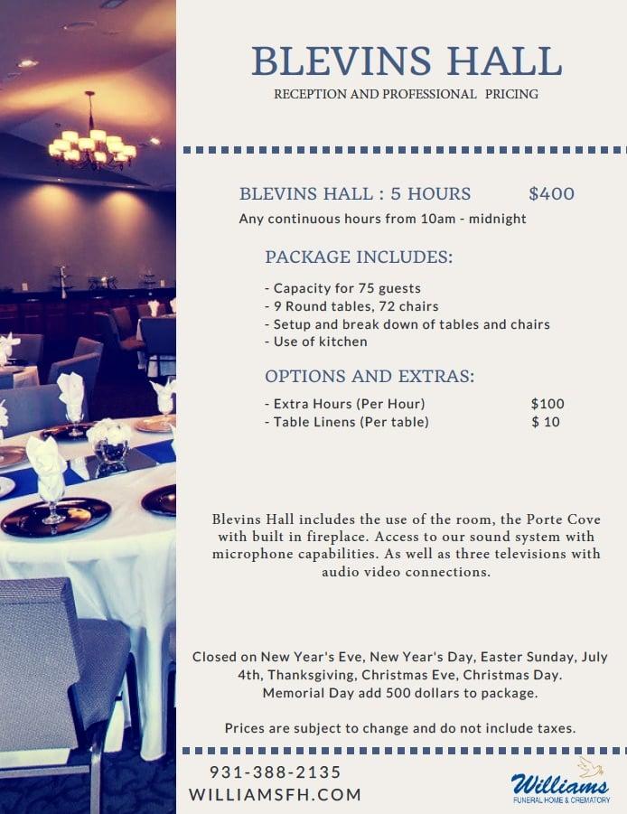 Venue Space Rental, Party Rental Space in Columbia TN, Banquet Rental Space