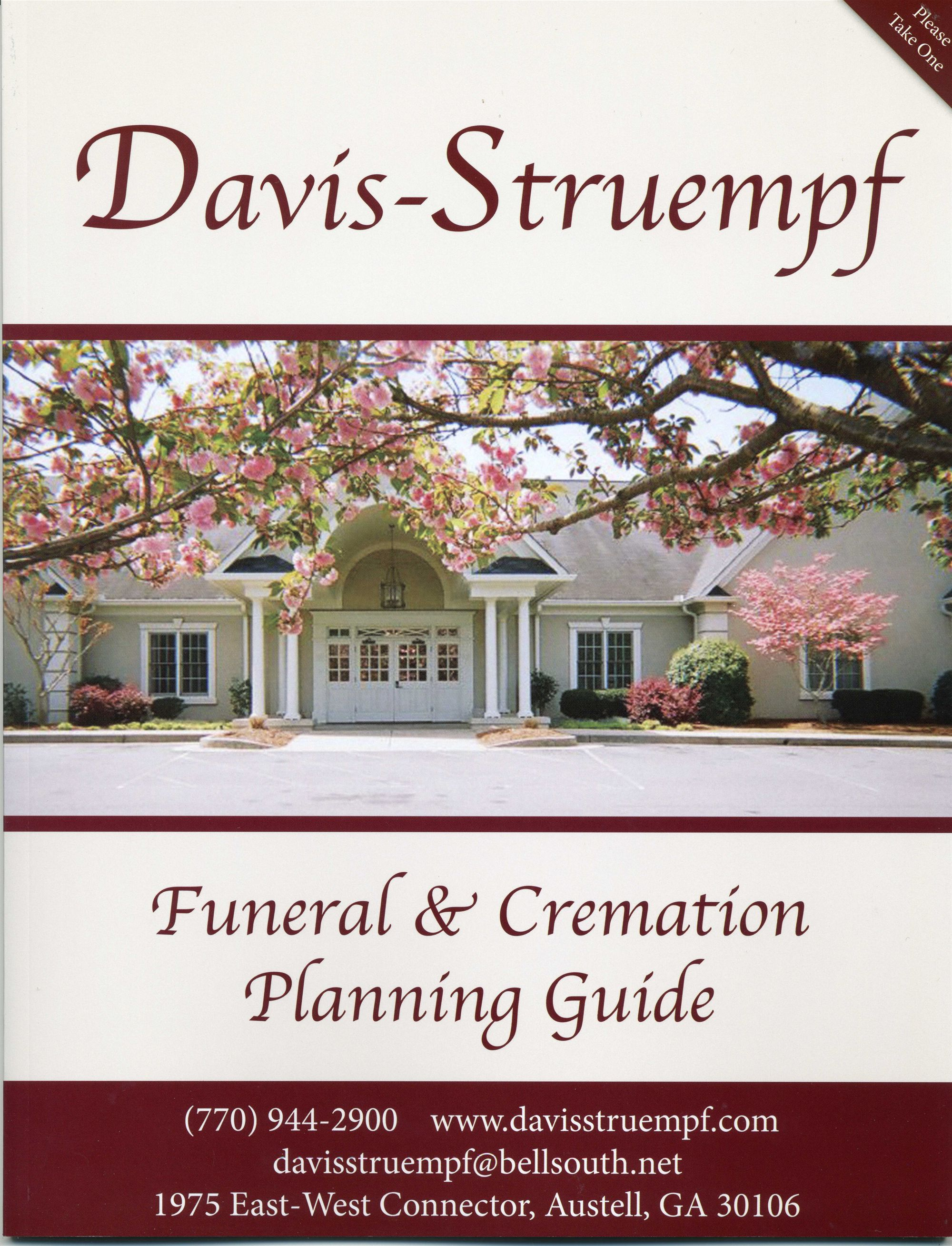 Funeral and Cremation pre-planning checklist
