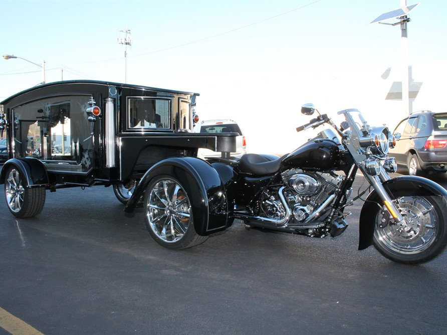 The RoadMaster Motorcycle Hearse