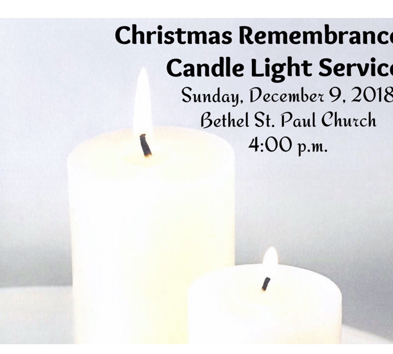 Christmas Remembrance Candle Light Service