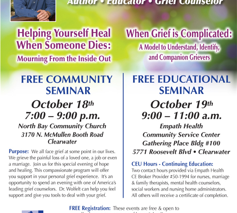 Grief Seminars with Dr. Alan Wolfelt