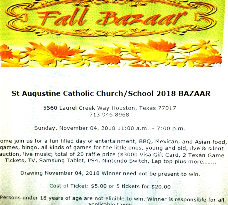 St. Augustine Catholic Church Fall Festival