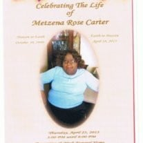 Metzena Rose Carter