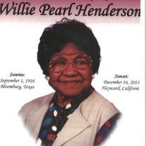 Mrs. Willie Pearl Henderson
