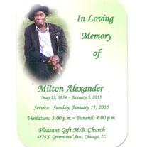 Milton Alexander