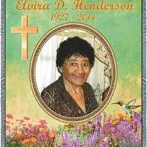 Mrs. Elvira D. Henderson