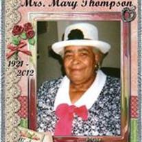 Mrs. Mary Thompson