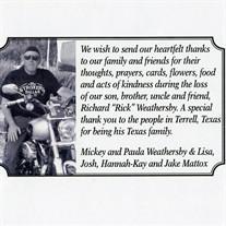 """Richard """"Rick""""  Weathersby"""