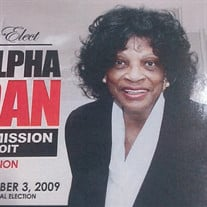 Mrs. Alpha Estella Jordan