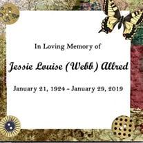 Jessie Louise (Webb) Allred