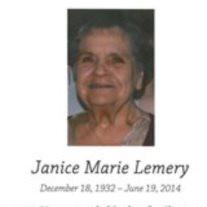 Janice Marie Lemery