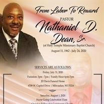 Pastor Nathaniel D. Deans Sr