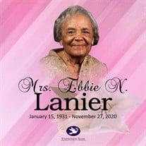 Mrs. Ebbie N. Lanier