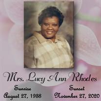 Mrs. Lucy Ann Rhodes