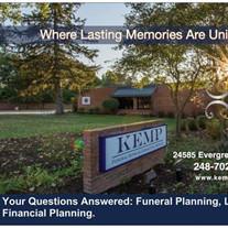 Kemp Funeral Home Prearrangement Seminar