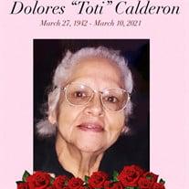"""Dolores """"Toti"""" Calderon"""