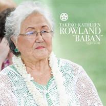 Takeko Kathleen Rowland