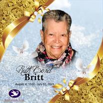 Mrs. Ruth Bond Britt