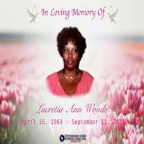Mrs. Lucretia Ann Woods