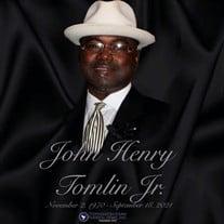 Mr. John Henry Tomlin Jr.